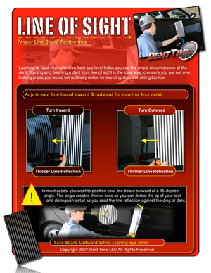 eye level paintless dent repair / removal line of sight manual